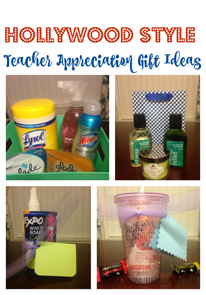 "Appreciate your child's teacher Hollywood Style! From ""Behind the Scenes"" to ""Fan Mail"" you can let your child's teacher know you appreciate them on a budget. #TeacherAppreciation  #HollywoodStyle"