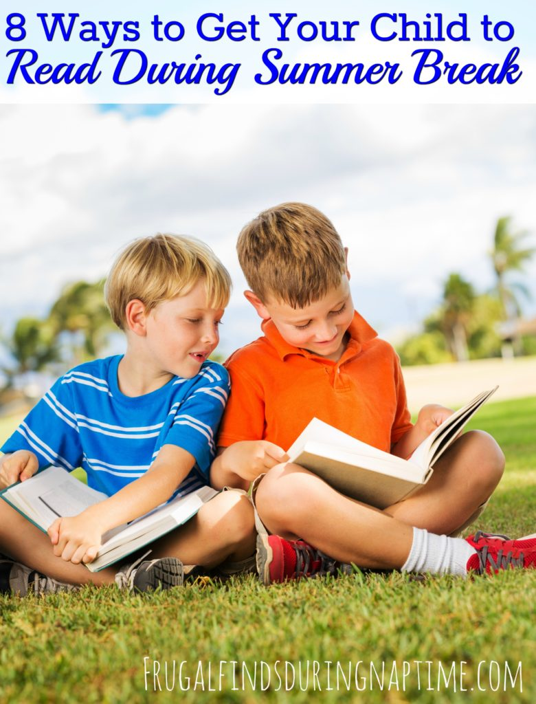 Having trouble getting your child to read during summer break? Try these 8 ideas to have them reading in no time!