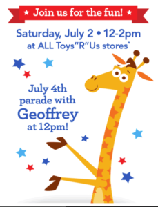 Toys R Us: Free 4th of July Event (July 2nd)!