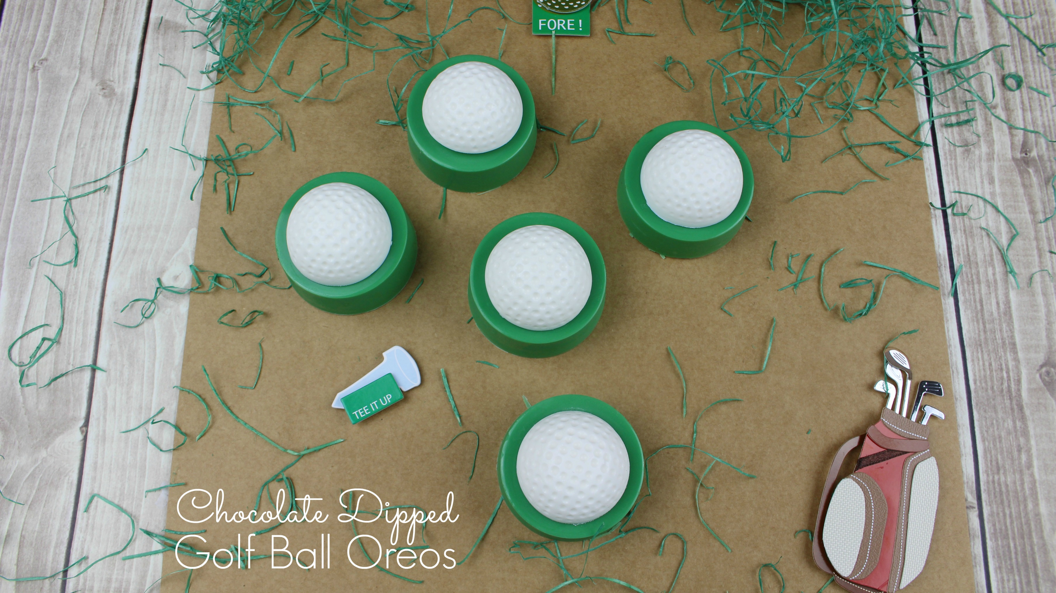 Chocolate Dipped Golf Ball Oreos