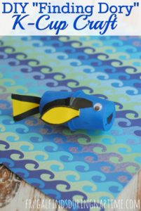 "DIY ""Finding Dory"" K-Cup Craft"
