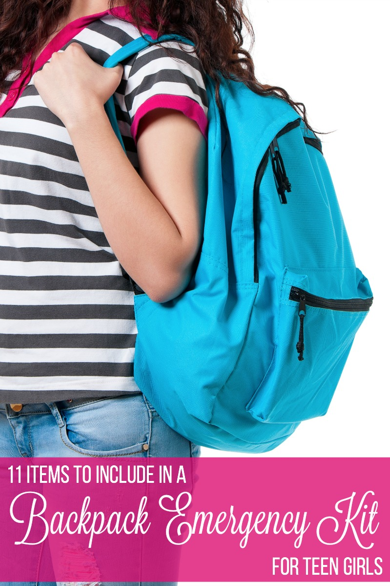 11 Items To Include In A Backpack Emergency Kit For Teen Girls
