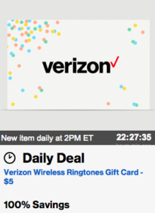 *Go Now!* Verizon Smart Rewards Members: $5 Verizon Wireless Gift Card 500 Points + Free S&H (VZW Customers Only)