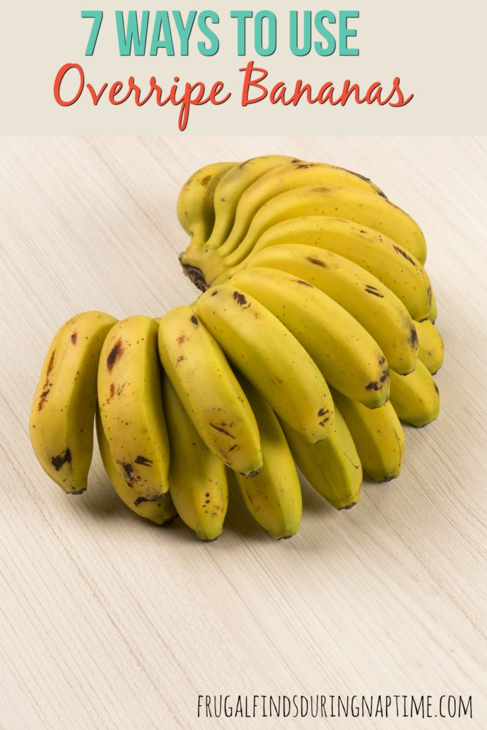 So what else can you do to use up those bananas that just don't get eaten up before going brown? Here are 7 ways to use overripe bananas.