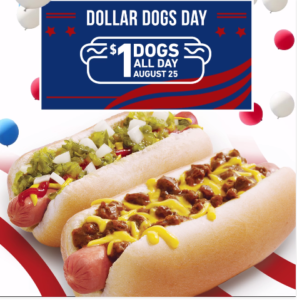 Today Only! Sonic Hot Dogs & Chili Cheese Coneys only $1!