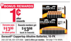 Duracell 16-pack Batteries ONLY $0.01! Stock Up!