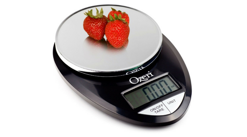 Lower price ozeri pro digital kitchen food scale for Professional food scale