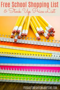 Save time and money with this back to school master supply shopping list, and stock up price lists!