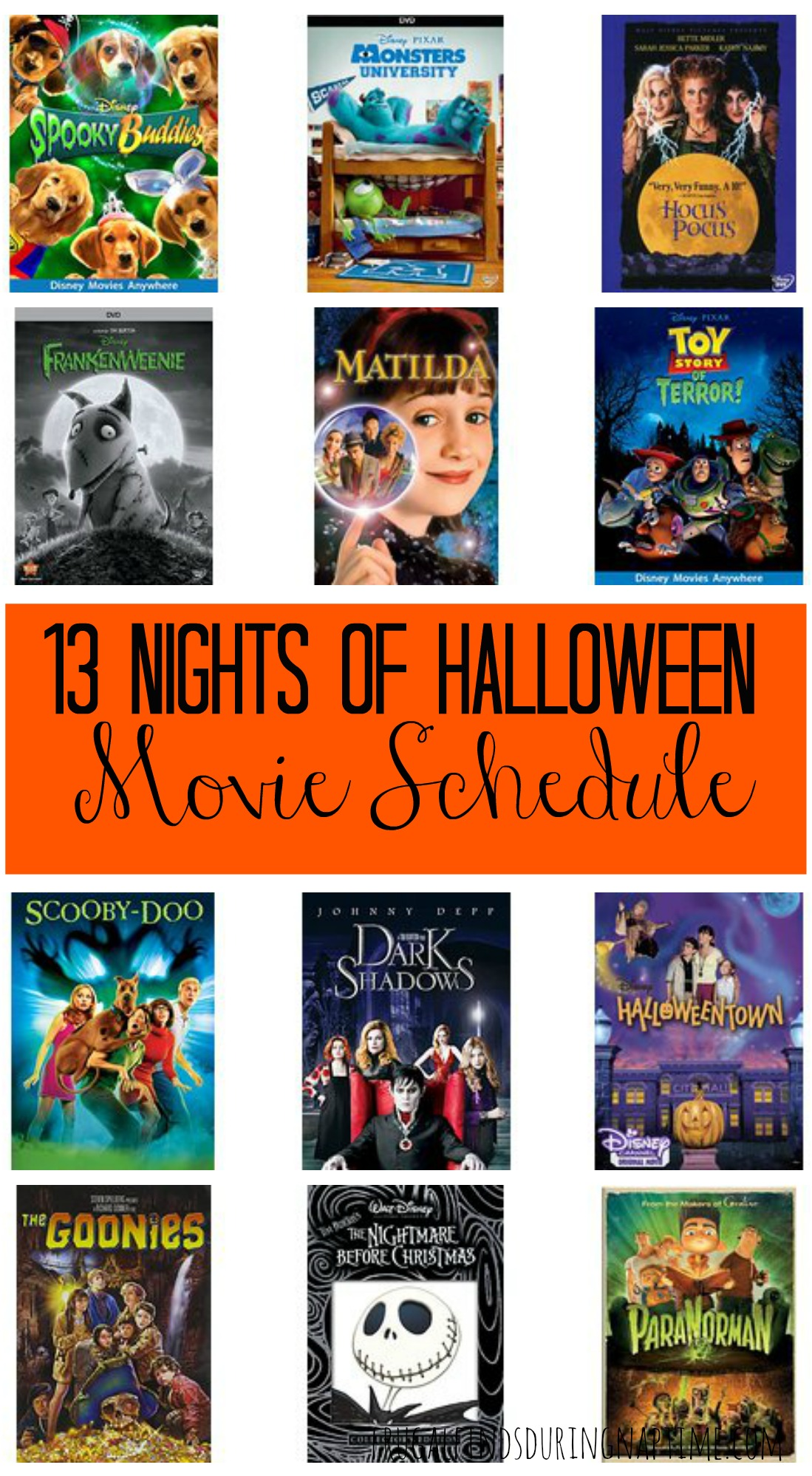 From scary to silly, and ghoul-y to gory, here is the 13 Nights of Halloween Movie Schedule.