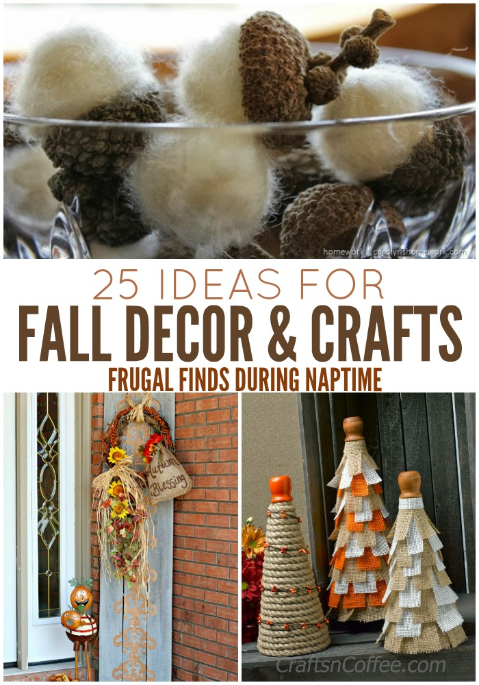 Looking for a Fall Decor or Craft Idea? Check out this round up for 25 ideas!