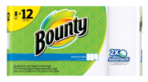 *Print Now!* Bounty Select-A-Size White Paper Towels 8 Giant Rolls $.54 Per Roll