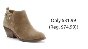 SONOMA Women's Suede Ankle Boots $31.99 (reg. $74.99)!