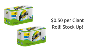 Bounty Giant Paper Towels ONLY $0.50 per Roll at Publix! Stock Up!