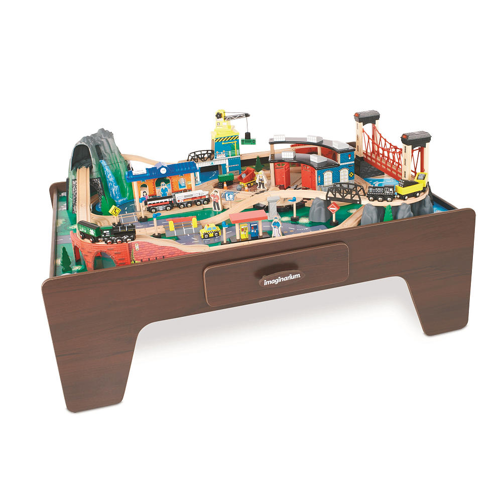 train table  sc 1 st  Frugal Finds During Naptime & SUPER HOT* Imaginarium 100+ Piece Mountain Rock Train Table ONLY ...