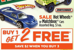 Dollar General: Hot Wheels or Matchbox Cars Only $.33 Each!!