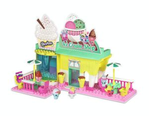 Shopkins Kinstructions Ice Cream Shop Playset Only $14.99!!