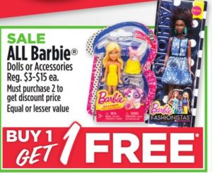 Dollar General: Buy One Get One Free Barbie Dolls
