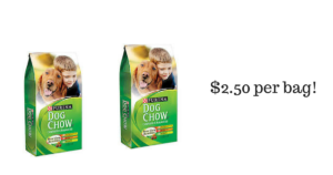 Purina Dog Chow $2.50 per Bag! Print Now!