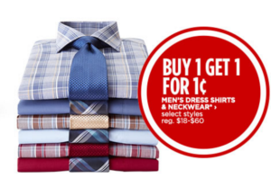 Men's Dress Shirts Buy One Get One for $0.01!