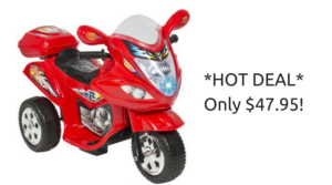 *SUPER HOT CLEARANCE* Kids Ride On Motorcycle ONLY $47.95 (reg. $119.95)!