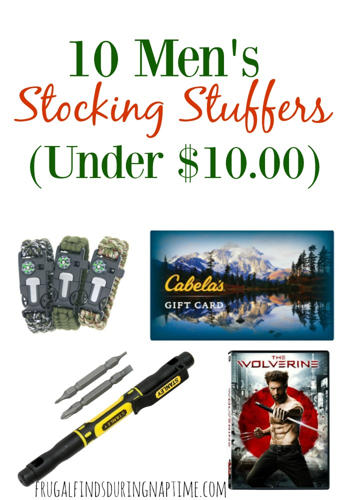 Need some inspiration or ideas for stocking stuffers for the man in your life? Check out these men's stocking stuffers all under $10.00 so you can stay on budget from @FFDNT