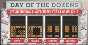 Day Of The Dozens! Get A Dozen Original Glazed for only $4.99 12/12 Only