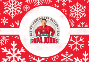 **4 Days Left** FREE Papa Johns 1 Topping Pizza w/ $25 Gift Card Purchase!