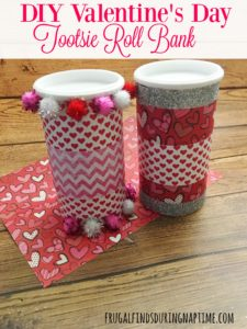 DIY Valentine's Day Tootsie Roll Bank
