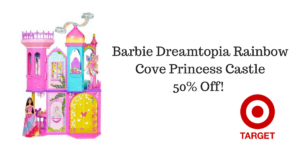 *HOT DEAL* Barbie Dreamtopia Rainbow Cove Princess Castle 50% Off!