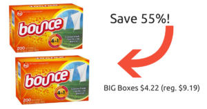 Target: BIG Boxes of Bounce Dryer Sheets $4.22 (reg. $9.19)!