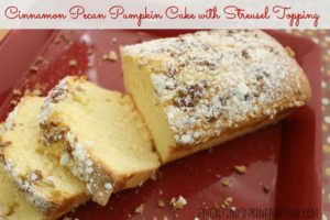 Cinnamon Pecan Pumpkin Cake with Streusel Topping