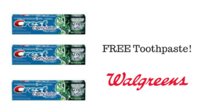 FREE Crest Toothpaste at Walgreens! Stock Up!