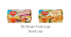 Target: 4-Pack Del Monte Fruit Cups $0.73 (reg. $2.12)! NO Coupons Needed!