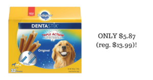 WOW! Pedigree Dentastix (32-count) ONLY $5.87 (reg. $13.99)!