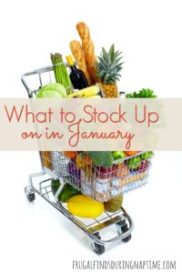 What to Stock Up on in January