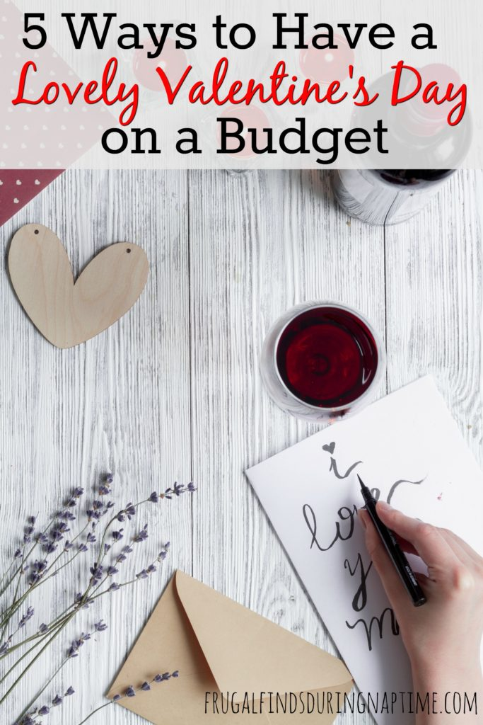 Just because it's Valentine's Day, doesn't mean you have to spend a lot of money! Use these tips to still have a lovely Valentine's Day while sticking to your budget.