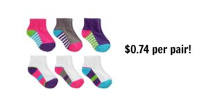 6-Pack Baby/Toddler Girls' Ankle Socks $4.47 (reg. $12.88)!