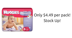 Huggies Jumbo Pack Diapers ONLY $4.49! Stock Up!