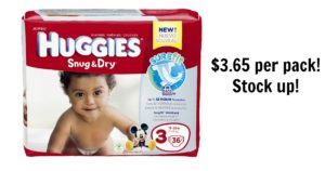 HOT! HOT! HOT! Huggies Diapers $3.65 + FREE Kandoo Flushable Wipes!