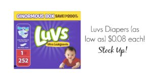 **BELOW Stock Up Price** Luvs Diapers (as low as) $0.08 Each!