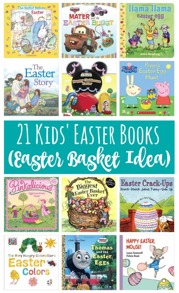 Books are always a great non-candy option for Easter Basket Stuffers! Check out this list of Kids' Easter Books.
