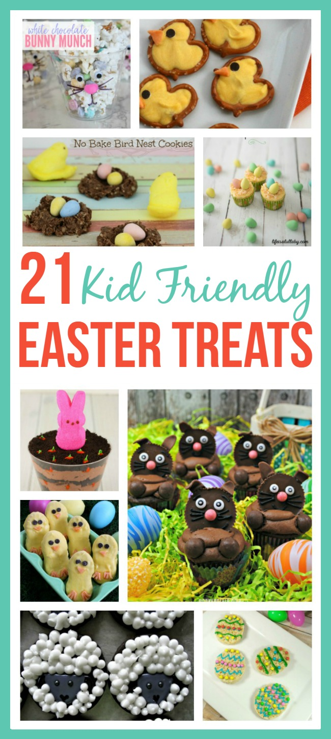Let your kids help you make these 21 Kid-Friendly Easter Treats!
