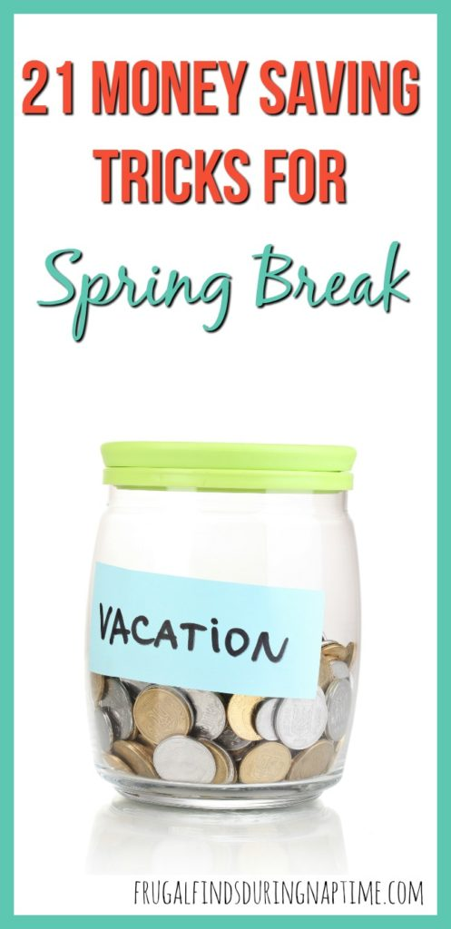 Don't overspend on a Spring Break trip with your family! Use these 21 money saving tricks for spring break to stay on budget.