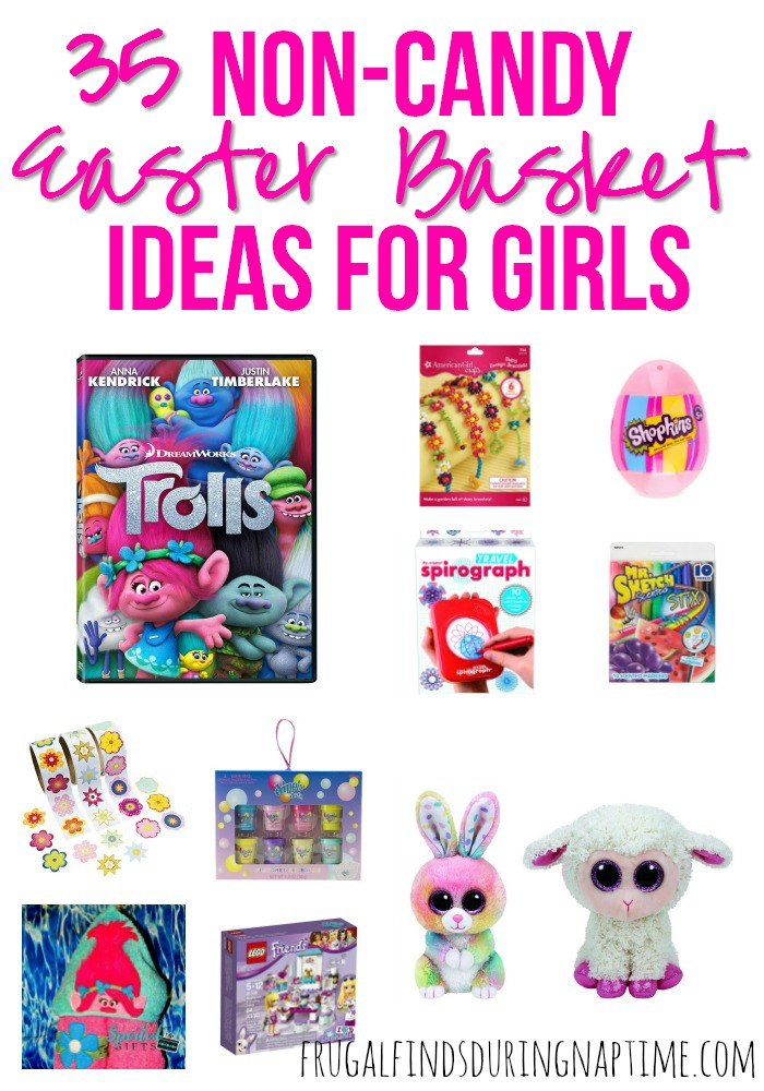 Looking for Easter Basket Ideas for your daughter, but don't want to fill a basket full of candy? Check out this list of 35 non-candy Easter Basket Ideas for Girls.
