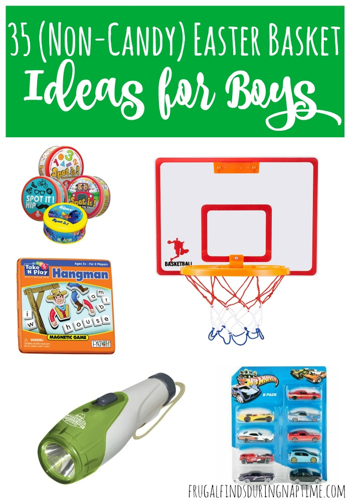If you need some inspiration or ideas for a boys' Easter Basket, here are 35 Easter Basket Ideas for Boys and none of them involve candy!
