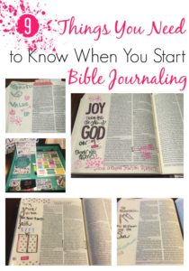 9 Things You Need to Know When You Start Bible Journaling