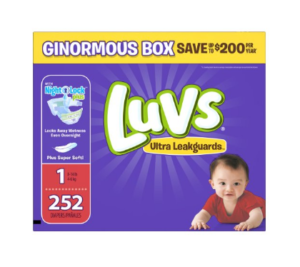 Luvs Ultra Leakguards Diapers Ginormous Box, $21.58!!! (Or Less!!)
