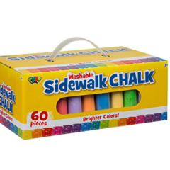 POOF 60-Piece Jumbo Sidewalk Chalk Only $5!!!