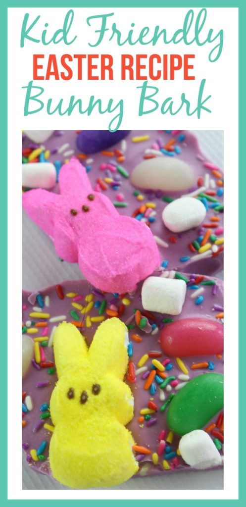Looking for a kid friendly Easter recipe? Look no further than this kid friendly Easter recipe for Bunny Bark! It's easy to make, and the kids will love it!