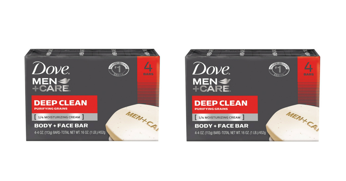 TRIPLE Stack on Dove Men+Care Body + Face Bar Soap = Stock Up Deal! - Frugal Finds During Naptime